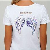 Футболки ручной работы. Ярмарка Мастеров - ручная работа Женская футболка с надписью Зашептательно. Handmade.