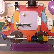 Бизиборды ручной работы. Ярмарка Мастеров - ручная работа Бизиборд-мини Машинка. Handmade.