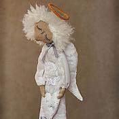 """Куклы и игрушки ручной работы. Ярмарка Мастеров - ручная работа """"Белый спящий Ангел целомудрия"""" - авторская кофейная куколка. Handmade."""
