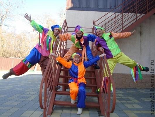 Карнавальные костюмы ручной работы. Ярмарка Мастеров - ручная работа. Купить Скоморох. Handmade. Зеленый, петрушка, Театральный костюм