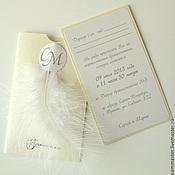 """Свадебный салон ручной работы. Ярмарка Мастеров - ручная работа Свадебные приглашения """"Нежность"""". Handmade."""