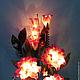 """Освещение ручной работы. Букет-светильник  """"Мальва"""". Elena&Anna (цветы-светильники). Интернет-магазин Ярмарка Мастеров. Светильник, свет, для дома"""