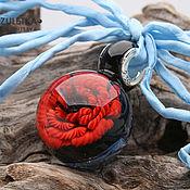 Украшения handmade. Livemaster - original item Magic poppy - pendant lampwork ball - flower galaxy stars cosmos. Handmade.