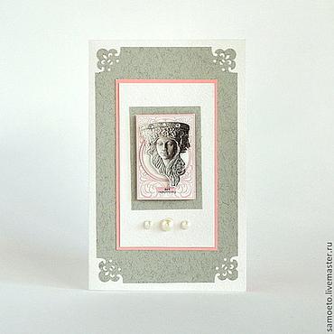 """Открытки ручной работы. Ярмарка Мастеров - ручная работа """"Арт Нуво"""". Авторская открытка. Handmade."""