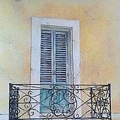 """Картины и панно ручной работы. Ярмарка Мастеров - ручная работа Картина """"Балкончик"""". Handmade."""