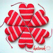 Подарки к праздникам ручной работы. Ярмарка Мастеров - ручная работа Красно-кружевное сердце. Handmade.