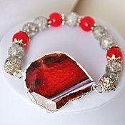 handmade. Livemaster - original item Bracelet with agate.. Handmade.