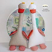 Куклы и игрушки ручной работы. Ярмарка Мастеров - ручная работа Гусь Жили у бабуси текстильная игрушка для детей. Handmade.