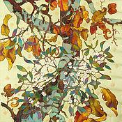 """Аксессуары ручной работы. Ярмарка Мастеров - ручная работа шелковый батик шарф """"Саэн. Омела"""". Handmade."""