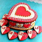 Сувениры и подарки handmade. Livemaster - original item Gingerbread box Heart. Set for gingerbread lovers. Handmade.