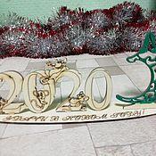 Год Крысы 2020 ручной работы. Ярмарка Мастеров - ручная работа Пано новогоднее 2020. Handmade.