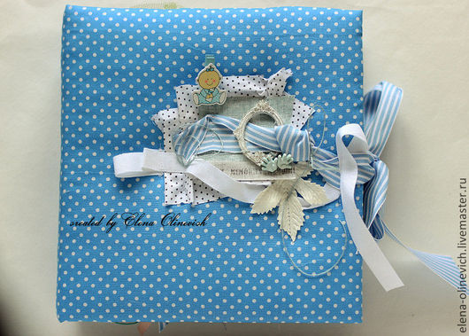 Подарки для новорожденных, ручной работы. Ярмарка Мастеров - ручная работа. Купить Альбом для новорожденного мальчика. Handmade. Альбом для фото, новорожденному