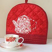 """Для дома и интерьера ручной работы. Ярмарка Мастеров - ручная работа Грелка для чайника """"Красная"""". Handmade."""