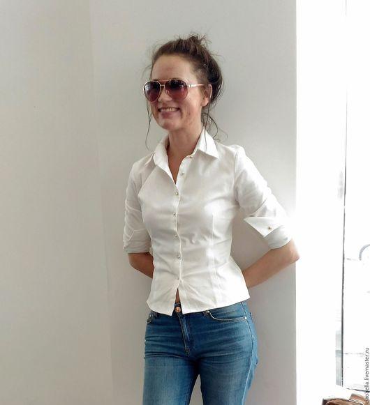 """Блузки ручной работы. Ярмарка Мастеров - ручная работа. Купить Рубашка """"Simple white"""".. Handmade. Белый, блузка в офис"""