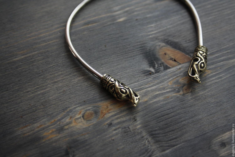 Браслет Викингов ,серебряный браслет  925 пробы