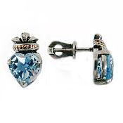 Украшения handmade. Livemaster - original item Silver Claddagh earrings with Topaz. Handmade.