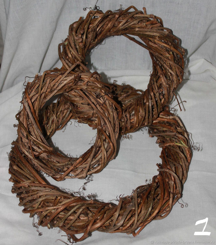 венок из лозы, Основа для флористики, Тула,  Фото №1