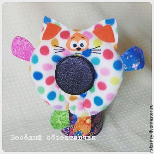 Игрушки животные, ручной работы. Ярмарка Мастеров - ручная работа. Купить Игрушка на объектив котик. Handmade. Ярко-красный, игрушка