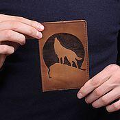 Сувениры и подарки ручной работы. Ярмарка Мастеров - ручная работа Обложка на паспорт Волк. Handmade.