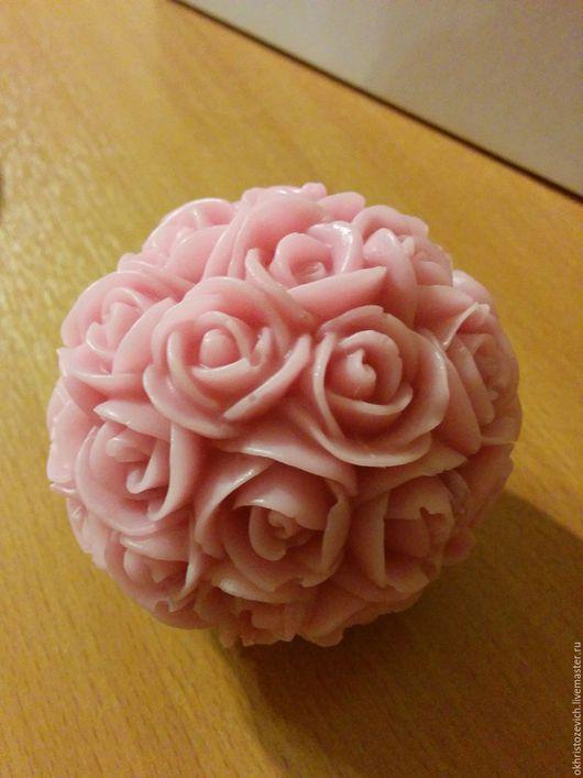 Персональные подарки ручной работы. Ярмарка Мастеров - ручная работа. Купить Роза шар. Handmade. Кремовый, мыло ручной работы