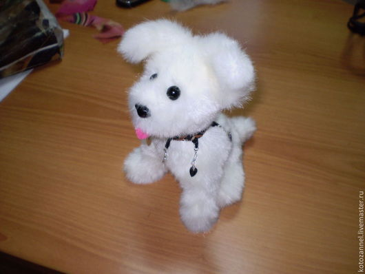 """Игрушки животные, ручной работы. Ярмарка Мастеров - ручная работа. Купить мягкая игрушка """"щенок Беляшик"""". Handmade. Белый"""