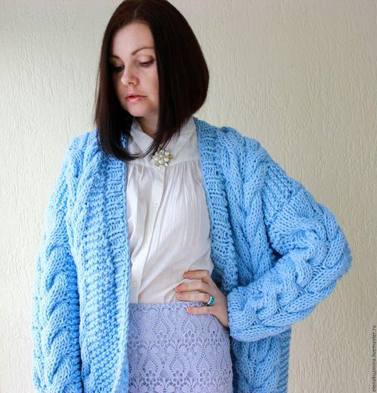 """Кофты и свитера ручной работы. Ярмарка Мастеров - ручная работа. Купить Кардиган """"Blue"""". Handmade. Голубой"""
