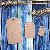 Материалы для творчества handmade. Livemaster - original item Tag: Kraft cardboard rounded (3 sizes). Handmade.