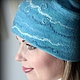 Felted Hat 'Queen of the gentle'winter. Caps. Felt the world. My Livemaster. Фото №5