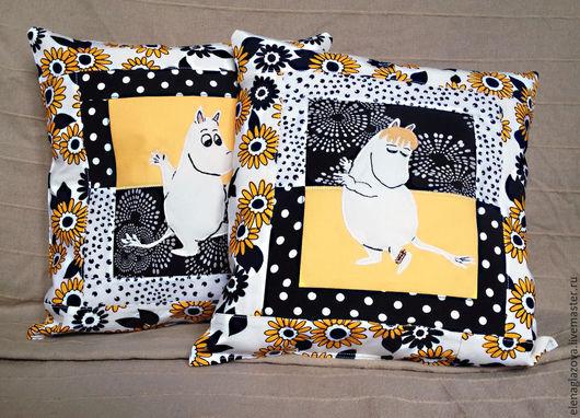 Детская ручной работы. Ярмарка Мастеров - ручная работа. Купить Лоскутные подушки в детскую с муми-троллями. Handmade. Муми-тролли