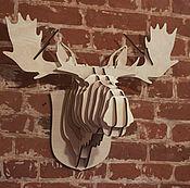 Для дома и интерьера ручной работы. Ярмарка Мастеров - ручная работа Голова лося (M). Handmade.