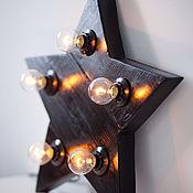 Для дома и интерьера ручной работы. Ярмарка Мастеров - ручная работа Звезда-светильник большая черная. Handmade.