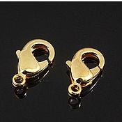 Материалы для творчества handmade. Livemaster - original item Lobster lock 9.5 mm gold plated Yu. Korea (2318). Handmade.