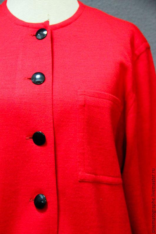 Одежда. Ярмарка Мастеров - ручная работа. Купить Рубашка Guy Laroche кофта винтаж. Handmade. Ярко-красный, винтажная рубашка