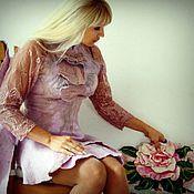 """Одежда ручной работы. Ярмарка Мастеров - ручная работа тонкий войлок  """" Розовый жемчуг""""(РЕЗЕРВ). Handmade."""