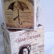 Для дома и интерьера handmade. Livemaster - original item Interior cube VINTAGE.Idea for gift. Handmade.