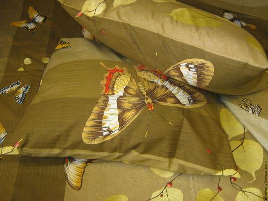 """Текстиль, ковры ручной работы. Ярмарка Мастеров - ручная работа. Купить 1,5 спальный комплект """"Вальс"""". Handmade. Хаки"""