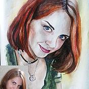 Картины и панно ручной работы. Ярмарка Мастеров - ручная работа Портрет акварелью по фотографии. Handmade.