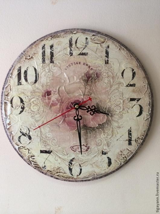 "Часы для дома ручной работы. Ярмарка Мастеров - ручная работа. Купить Часы "" Винтажная роза"". Handmade. Часы"