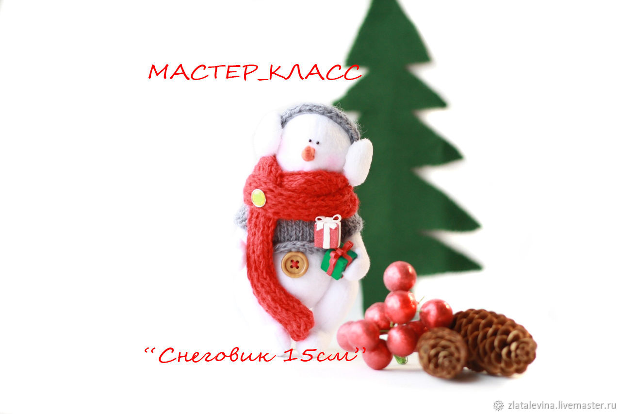 Master Class ' the SNOWMAN 15cm', Details for dolls and toys, Barnaul,  Фото №1