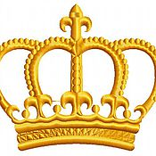 Дизайн и реклама ручной работы. Ярмарка Мастеров - ручная работа королевская корона дизайн машинной вышивки. Handmade.