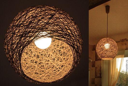 Освещение ручной работы. Ярмарка Мастеров - ручная работа. Купить Сферическая люстра из джута. Handmade. Бежевый, джут, сфера