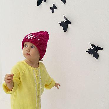 Clothing handmade. Livemaster - original item Caps for girls cotton. Handmade.