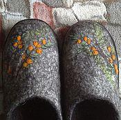 """Обувь ручной работы. Ярмарка Мастеров - ручная работа """"Облепиха"""". Тапки домашние.. Handmade."""