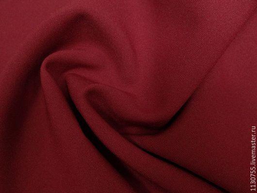 Шитье ручной работы. Ярмарка Мастеров - ручная работа. Купить Ткань габардин красный. Handmade. Ярко-красный, ткани для рукоделия