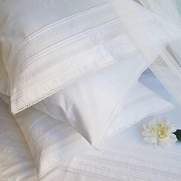 Для дома и интерьера ручной работы. Ярмарка Мастеров - ручная работа Белое постельное белье София в стиле Прованс. Handmade.