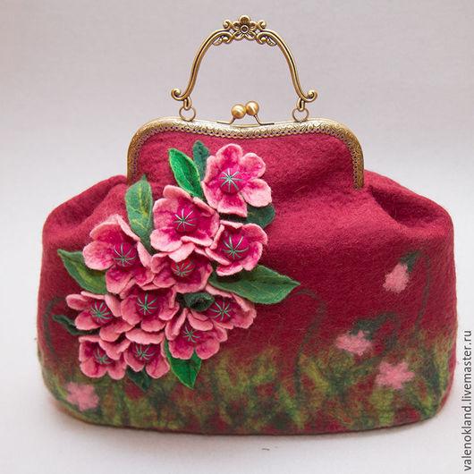 Валяная сумка. Лариса Базанова