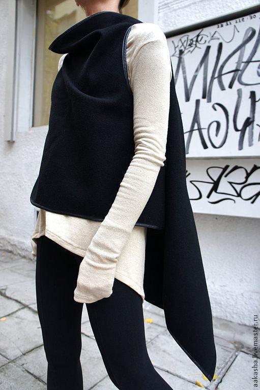 Жилет кашемировый жилет жилетка черная накидка модный жилет красивая жилетка кардиган