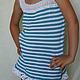 """Одежда для девочек, ручной работы. Ярмарка Мастеров - ручная работа. Купить Туника """"МОРЯЧКА"""". Handmade. Разноцветный, для девочки"""