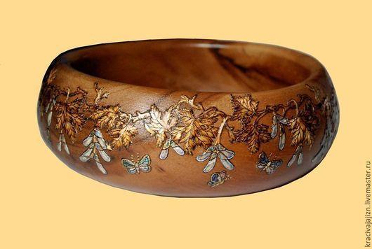 """Кухня ручной работы. Ярмарка Мастеров - ручная работа. Купить чаша """"Кленовые листья"""". Handmade. Кухня, купить подарок, перламутр"""