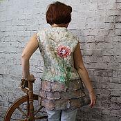 """Одежда ручной работы. Ярмарка Мастеров - ручная работа Жилет валяный """"Жажда жизни"""". Handmade."""